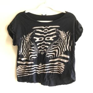Cotton on Size Small Zebra Graphic Tee Shirt